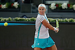 Svetlana Kuznetsova from Russia during her Madrid Open tennis tournament match against Samantha Stosur from Australia in Madrid, Spain. May 06, 2015. (ALTERPHOTOS/Victor Blanco)
