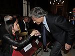 AZZURRA CALTAGIRONE E ALFIO MARCHINI<br /> PREMIO GUIDO CARLI - SESTA EDIZIONE<br /> PALAZZO DI MONTECITORIO - SALA DELLA REGINA CON RICEVIMENTO A VILLA AURELIA ROMA 2015