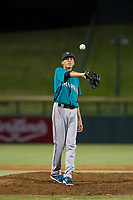 AZL Mariners relief pitcher Jorge Benitez (9) in action against the AZL Cubs on August 4, 2017 at Sloan Park in Mesa, Arizona. AZL Cubs defeated the AZL Mariners 5-3. (Zachary Lucy/Four Seam Images)