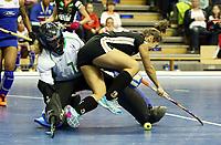 goalkeeper Petro STOFFBERG, Marie Maevers /   /        /   / Sport / Hockey Hnhockey / World Championships Weltmeisterschaft Damen /  2017/2018 / 07.02.2018 / GER BRGermany vs. Namibia  *** Local Caption *** © pixathlon<br /> Contact: +49-40-22 63 02 60 , info@pixathlon.de