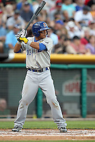 Ray Olmedo #13 of the Durham Bulls plays for the International League All-Stars in the annual Triple-A All-Star Game against the Pacific Coast League All-Stars at Spring Mobile Ballpark on July 13, 2011  in Salt Lake City, Utah. The International League won the game, 3-0. Bill Mitchell/Four Seam Images.