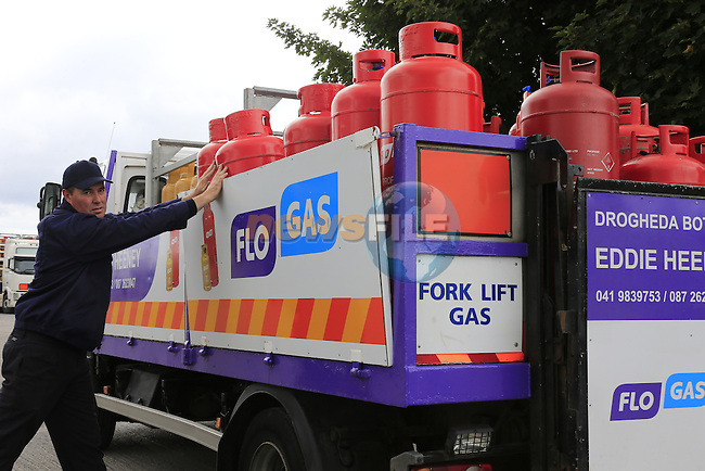 FLO GAS delivery truck Red cylinder<br /> Picture www.newsfile.ie