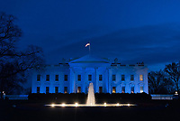 Photo of the Day: 4/3/17<br /> The White House is lit in blue in honor of World Autism Awareness Day in Washington D.C., Sunday, April 2, 2017. (Official White House photo by D. Myles Cullen)