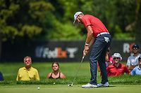 4th July 2021, Detroit, MI, USA;  Troy Merritt (USA) sinks his birdie putt on 1 during the Rocket Mortgage Classic Rd4 at Detroit Golf Club on July 4,