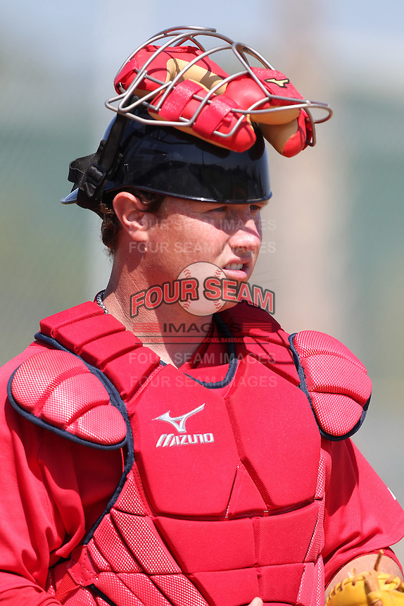Boston Red Sox minor league player Matt Spring #23 during a spring training game vs the Baltimore Orioles at the Buck O'Neil Complex in Sarasota, Florida;  March 22, 2011.  Photo By Mike Janes/Four Seam Images