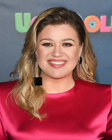 """11 June 2020 - Kelly Clarkson files for divorce from husband Brandon Blackstock. The """"Voice"""" coach and Blackstock, a music manager, have been married since October 2013 and have two children together, River Rose and Remington Alexander. Blackstock also has two children from a previous marriage. File photo: 13 April 2019 - Beverly Hills, California - Kelly Clarkson. """"UglyDolls"""" Los Angeles Photo Call held at The Four Seasons Hotel. Photo Credit: Billy Bennight/AdMedia"""