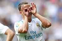 Real Madrid's Lucas Vazquez celebrates goal during La Liga match. September 9,2017.  *** Local Caption *** © pixathlon<br /> Contact: +49-40-22 63 02 60 , info@pixathlon.de
