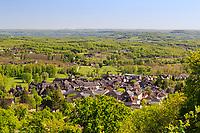 France, Correze, Meyssac, the village  (aerial view) // France, Corrèze (19), Meyssac, le village (vue aérienne)