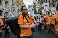 The Peoples Climate March in London. Part of a world wide day of action against cimate change. 21-9-14