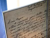 USA, Neuengland, Brief eines Maedchens aus dem Canterbury Shaker Village, 06.09.2010<br /> <br /> Engl.: USA, New England, New Hampshire, Canterbury Shaker Village, letter of a girl, 06 September 2010