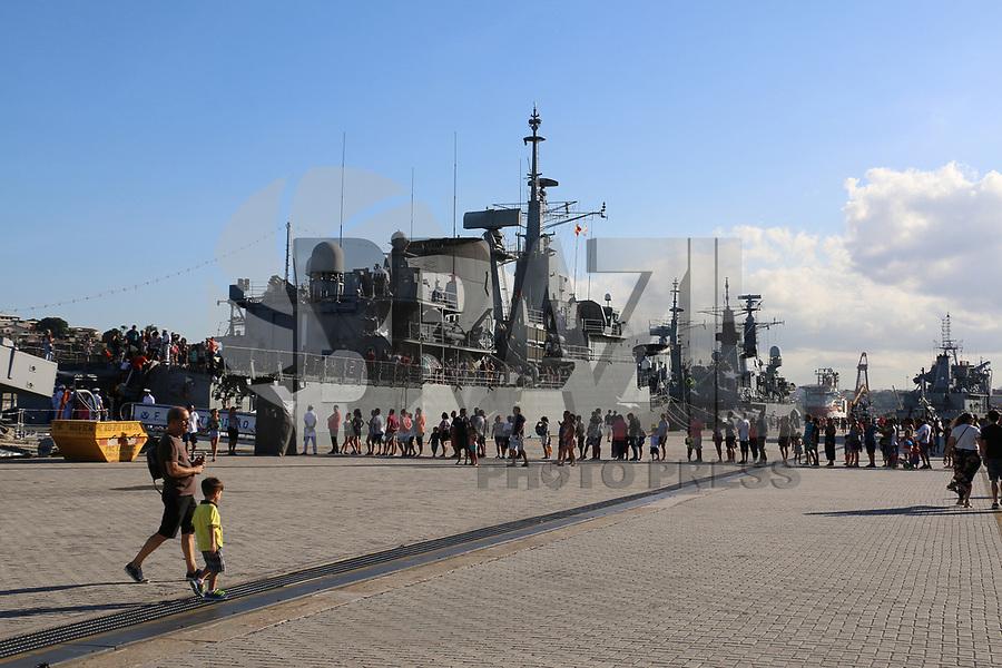 VITÓRIA, ES, 11.05.2019 - MARINHA-ES - Navios da Marinha do Brasil abertos a visitação pública no Porto de Vitória - ES, neste sábado, 11. ( Foto Charles Sholl/Brazil Photo Press/Folhapress)
