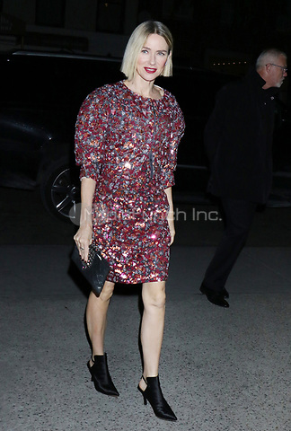 NEW YORK, NY - NOVEMBER 12: Naomi Watts seen arriving to the MoMA Film Benefit Honoring Laura Dern in New York City on November 12, 2019. Credit: RW/MediaPunch