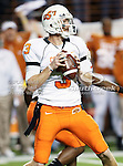 Oklahoma State Cowboys quarterback Brandon Weeden (3) in action in the game between the Oklahoma State Cowboys and the University of Texas in Austin Texas Longhorns at the Daryl K. Royal- Texas Memorial Stadium in Austin, Texas. The Oklahoma State Cowboys defeated the Texas Longhorns 33 to 16.