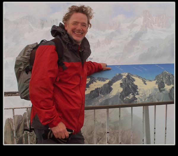 My newest passion, Europe. John atop Les Grand Montets, Chamonix, France.