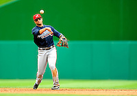 5 July 2009: Atlanta Braves' infielder Martin Prado in action against the Washington Nationals at Nationals Park in Washington, DC. The Nationals defeated the Braves 5-3, to take the rubber game of their 3-game weekend series. Mandatory Credit: Ed Wolfstein Photo