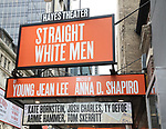 Theatre Marquee unveiling for 'Straight White Men' starring  Armie Hammer and Tom Skerritt at the Helen Hayes Theatre on May 18, 2018 in New York City.