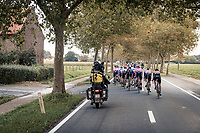 race leaders on their way back to Ieper<br /> <br /> 82nd Gent-Wevelgem in Flanders Fields 2020 (1.UWT)<br /> 1 day race from Ieper to Wevelgem (232km)<br /> <br /> ©kramon