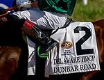 July 11, 2020: Dunbar Road #2, ridden by Irad Ortiz, Jr., wins the Delaware Handicap on Delaware Handicap Day at Delaware Park in New Stanton, Delaware. Scott Serio/Eclipse Sportswire/CSM
