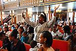 Parishioners at Mount Lebanon Baptist Church in Brooklyn, New York on Sunday, September 22, 2008.