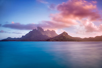 Mt. Otemanu at sunset. Bora Bora. French Polynesia.