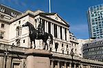 Bank of England City of London UK Duke of Wellington Statue  Threadneedle Street London EC2