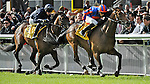 Probably (no. 5), ridden by  William Lee and trained by David Wachman, wins the group 2 Railway Stakes for two year olds on June 30, 2012 at the Curragh Racecourse in Newbridge, Kildare, Ireland.  (Bob Mayberger/Eclipse Sportswire)