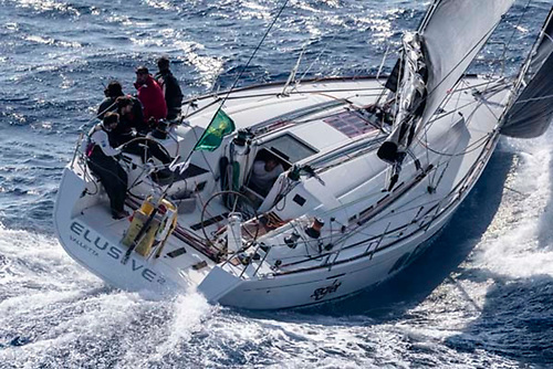 The Maltese First 45 Elusive on her way to overall victory for the Podesta family in the 2019 Rolex Middle Sea Race