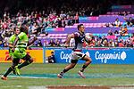 Hong Kong vs Zimbabwe during their Pool F match as part of the HSBC Hong Kong Rugby Sevens 2018 on April 7, 2018 in Hong Kong, Hong Kong. Photo by Marcio Rodrigo Machado / Power Sport Images