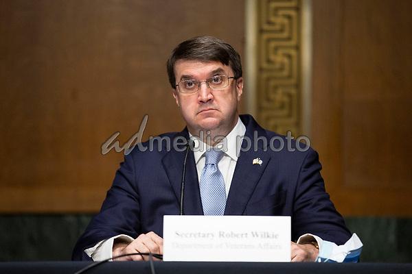 United States Secretary of Veterans Affairs (VA) Robert Wilkie testifies before the United States Senate Committee on Veteran's Affairs on Capitol Hill in Washington D.C., U.S., on Wednesday, June 3, 2020.  Credit: Stefani Reynolds / CNP/AdMedia