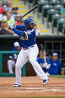 Oklahoma City Dodgers first baseman O'Koyea Dickson (23) at bat during the Pacific Coast League baseball game against the Nashville Sounds on June 12, 2015 at Chickasaw Bricktown Ballpark in Oklahoma City, Oklahoma. The Dodgers defeated the Sounds 11-7. (Andrew Woolley/Four Seam Images)