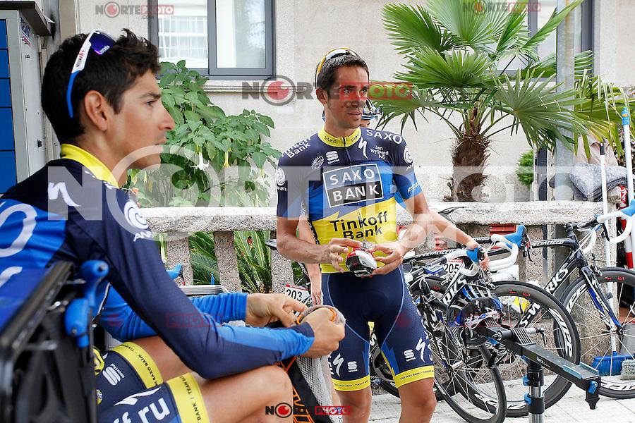 Alberto Contador during a training session in the rest day of La Vuelta 2012.August 27,2012. (ALTERPHOTOS/Paola Otero) /NortePhoto.com<br /> <br /> **CREDITO*OBLIGATORIO** <br /> *No*Venta*A*Terceros*<br /> *No*Sale*So*third*<br /> *** No*Se*Permite*Hacer*Archivo**<br /> *No*Sale*So*third*