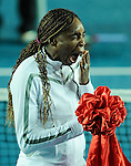 HONG KONG - JANUARY 07:  Venus Williams of United States yawns during the opening ceremony on day one of the World Team Challenge 2009 tournament held at Victoria Park January 7, 2009 in Hong Kong, China.  Photo by Victor Fraile / The Power of Sport Images