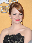 Emma Stone attends the 18th Annual Screen Actors Guild Awards held at The Shrine Auditorium in Los Angeles, California on January 29,2012                                                                               © 2012 Hollywood Press Agency