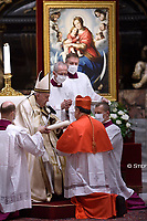 Cardinal Felipe Arizmendi Esquivel.Pope Francis leads a consistory for the creation of five new cardinals  at St Peter's basilica in Vatican.28 november 2020