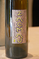 Zacmau Vin de Table from Domaine Causse Marine, white wine made from Mauzac grapes, Gaillac, France