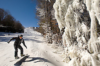 Snow skiing and snowboarding at Sugar Mountain Ski Resort in Banner Elk, North Carolina.