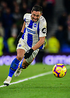 Florin Andone of Brighton & Hove Albion (10) In action ,during the Premier League match between Brighton and Hove Albion and Crystal Palace at the American Express Community Stadium, Brighton and Hove, England on 4 December 2018. Photo by Edward Thomas / PRiME Media Images.