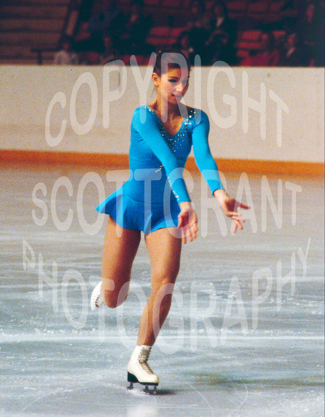 Claudia Kristofics-Binder of Austria competes at the 1981 Skate Canada in Ottawa, Canada, Kristofics-Binder won the bronze medal. Photo copyright Scott Grant.