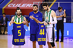 League ACB-ENDESA 2020/2021.Game 15.<br /> FC Barcelona vs Club Joventut Badalona: 88-74.<br /> Pau Ribas, Pierre Oriola & Ante Tomic.