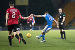 St Johnstone v Kilmarnock…02.12.17…  McDiarmid Park…  SPFL<br />David Wotherspoon's shot hits the crossbar<br />Picture by Graeme Hart. <br />Copyright Perthshire Picture Agency<br />Tel: 01738 623350  Mobile: 07990 594431
