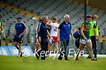 Kerry Manager Peter Keane Kerry Selector James Foley after the Allianz Football League Division 1 Semi-Final, between Tyrone and Kerry at Fitzgerald Stadium, Killarney, on Saturday.
