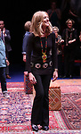 """Christine Lahti during the Opening Night Performance bows for """"Gloria: A Life"""" on October 18, 2018 at the Daryl Roth Theatre in New York City."""