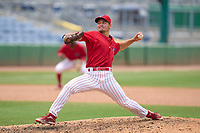 Clearwater Threshers pitcher Tyler Adams (21) during a game against the Tampa Tarpons on June 13, 2021 at BayCare Ballpark in Clearwater, Florida.  (Mike Janes/Four Seam Images)