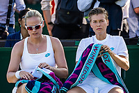 London, England, 3 July, 2019, Tennis,  Wimbledon, Womans doubles : Demi Schuurs (NED) and Anna-Lena Groenefeld (GER) (L)<br /> Photo: Henk Koster/tennisimages.com