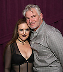 """Jennifer Simard and Douglas Sills backstage after """"Stigma"""" on September 9, 2018 at the Green Room 42 in New York City."""