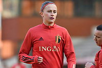 Julie Biesmans (20) of Belgium pictured during a Womens International Friendly game between Belgium , called the Red Flames and Norway at Koning Boudewijnstadion in Brussels , Belgium. Photo Sportpix.be / SPP