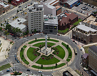 aerial photograph of the Robert E Lee Monument and Lee Circle, New Orleans, Louisiana