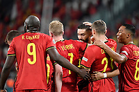 Yannick Carrasco of Belgium celebrates after scoring the goal of 1-0 during the Uefa Nations League semi-final football match between Belgium and France at Juventus stadium in Torino (Italy), October 7th, 2021. Photo Andrea Staccioli / Insidefoto