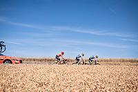 breakaway group of the day: Yoann Offredo (FRA/Wanty-Gobert), Frederik Backaert (BEL/Wanty - Gobert) & Michael Schär (SUI/CCC)<br /> <br /> Stage 4: Reims to Nancy(215km)<br /> 106th Tour de France 2019 (2.UWT)<br /> <br /> ©kramon