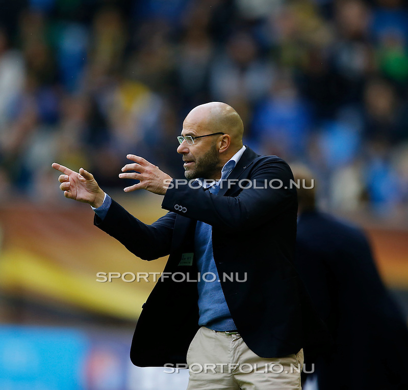 Nederland, Arnhem, 31 mei 2015<br /> Seizoen 2014-2015<br /> Play-offs voor voorronde Europa League<br /> Vitesse-SC Heerenveen (5-2)<br /> Peter Bosz, trainer-coach van Vitesse